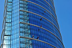 zbudować nowoczesnego urzędu budynek architektury szczegółowo nowoczesnego Obraz Royalty Free