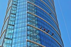 zbudować nowoczesnego urzędu budynek architektury szczegółowo nowoczesnego Obraz Stock