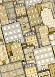 zbudować tła miejskiego ilustracji