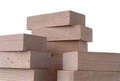 zbudował drewnianego bloków Zdjęcie Stock