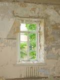 zbudować starego okno Fotografia Royalty Free