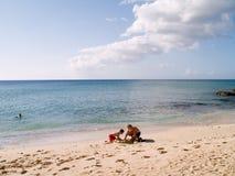 zbudować zamku piasku Zdjęcie Royalty Free