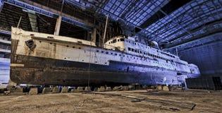 zbutwiały statek Fotografia Royalty Free