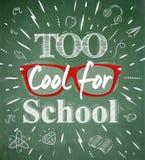 Zbyt Chłodno dla szkoły zieleni blackboard Obrazy Royalty Free