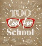Zbyt Cool dla szkolnego Kraft papieru ilustracji