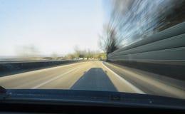 Zbyt szybko na autostradzie Zdjęcia Stock