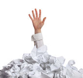 Zbyt wiele papierkowa robota. Pojęcie Obrazy Stock