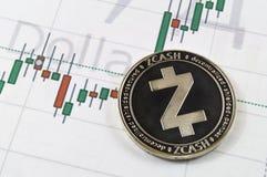 Zcash современный путь обмена и этой секретной валюты стоковое фото rf