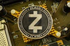 Zcash современный путь обмена и этой секретной валюты стоковое изображение rf