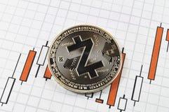 Zcash современный путь обмена и этой секретной валюты стоковая фотография rf