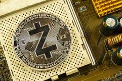 Zcash современный путь обмена и этой секретной валюты стоковое фото