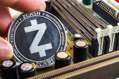 Zcash современный путь обмена и этой секретной валюты стоковые фотографии rf