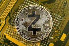 Zcash современный путь обмена и этой секретной валюты стоковые фото