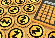 Zcash Bjuda på utbytet med Crypto valuta extraktion Fotografering för Bildbyråer