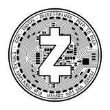 Zcash coin black silhouette Royalty Free Stock Image