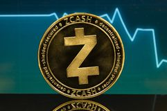 Zcash is a modern way of exchange and this crypto currency. Is a convenient means of payment in the financial and web markets stock photos