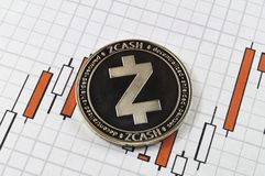 Zcash is a modern way of exchange and this crypto currency. Is a convenient means of payment in the financial and web markets stock photography
