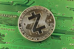 Zcash is a modern way of exchange and this crypto currency. Is a convenient means of payment in the financial and web markets royalty free stock photos