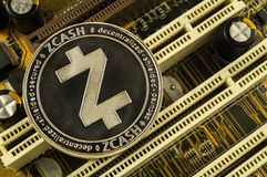 Zcash is a modern way of exchange and this crypto currency. Is a convenient means of payment in the financial and web markets royalty free stock images