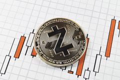 Zcash is a modern way of exchange and this crypto currency. Is a convenient means of payment in the financial and web markets royalty free stock photography