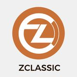 Zclassic ZCL vector logo. A privacy and selective transparency of money transactions and crypto currency. Royalty Free Stock Image