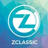 Zclassic ZCL vektorlogo En avskildhet och en selektiv stordia av pengartransaktioner och crypto valuta Arkivfoto