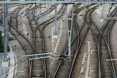 złącze linia kolejowa Fotografia Royalty Free