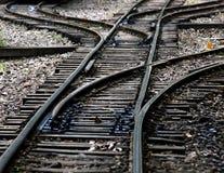 złącze linia kolejowa Zdjęcie Royalty Free