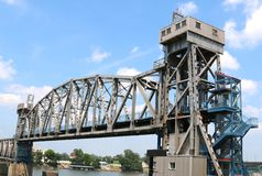 Złącze most, W centrum Little Rock Arkansas Obrazy Stock