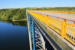 Zdakovkov bridge over the dam Orlik Stock Images
