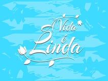 Zdaniowy życie jest piękny w portugalczyku ilustracja wektor