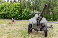 Zdbice,Zachodniopomorskie/波兰- 2019年5月,15日:第一个波兰军队的露天博物馆在Zdbice 地方战斗为 免版税库存照片