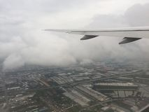 Zdejmować od Suvarnabhumi lotniska obraz stock
