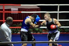 Zdenek Chladek and Erik Alojan - boxing Royalty Free Stock Images