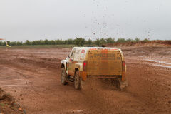 Zdenek Prizek drives a H3 EVO Stock Photo