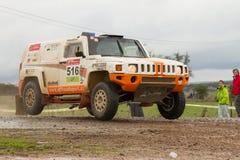 Zdenek Prizek drives a H3 EVO Royalty Free Stock Image
