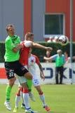 Zdenek Volek en Jasmin Scuk - voetbal Royalty-vrije Stock Foto