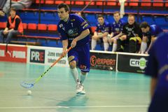 Zdenek Zak - floorball Stock Photo