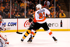 Zdeno Chara (33) and James van Riemsdyk (21) Royalty Free Stock Image