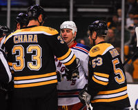 Zdeno Chara and Brandon Dubinsky. Royalty Free Stock Photo