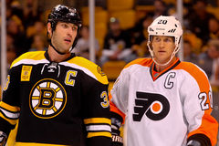 Zdeno Chara and Chris Pronger Captains Royalty Free Stock Image