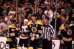 Zdeno Chara escorted to penalty box Stock Photo