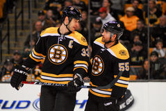Zdeno Chara and Johnny Boychuk Royalty Free Stock Images