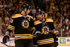 Zdeno Chara and Johnny Boychuk Boston Bruins Stock Photo