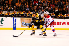 Zdeno Chara and Marcus Johansson (NHL) Royalty Free Stock Photos