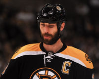 zdeno för defenseman för boston nallechara Royaltyfri Fotografi