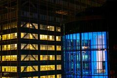 Zderzać się miast światła fotografia royalty free