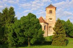 zdewastowany barokowy kościół Obrazy Royalty Free