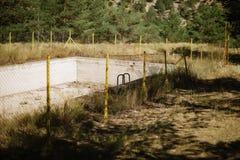 Zdewastowany Pływacki basen Zdjęcie Royalty Free