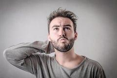 zdezorientowany człowiek Fotografia Stock